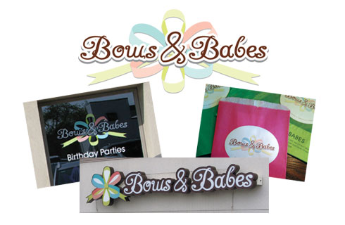 Bows & Babes | Logo | Sign | Window Graphics | Label