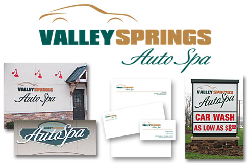 Valley Springs Auto Spa - Logo | Signs | Stationery | Business Cards