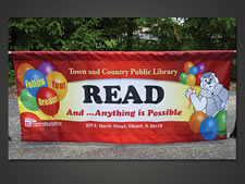 Town & Country Library of Elburn IL | Parade Banner